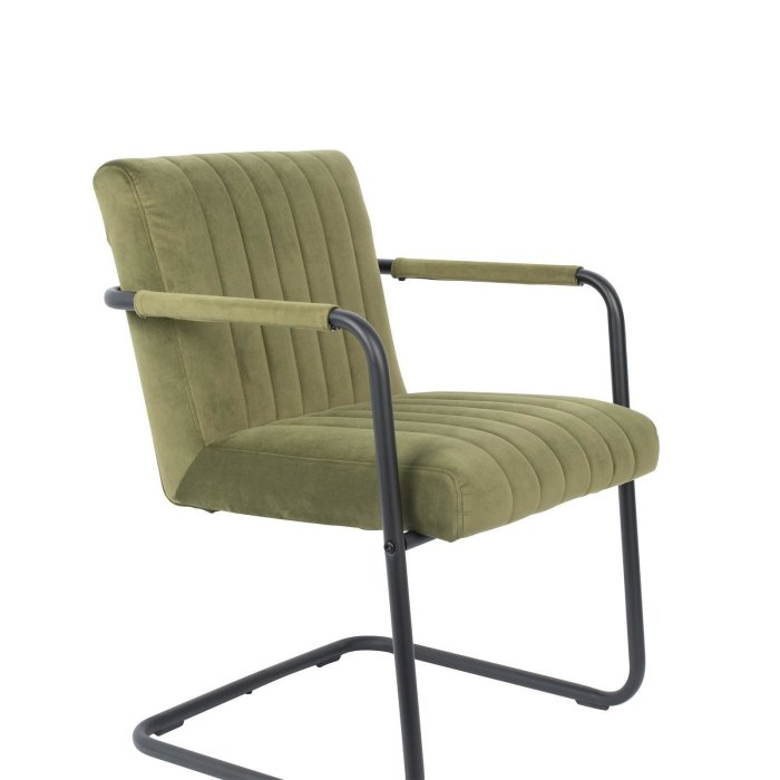 Dutchbone ARMCHAIR STITCHED VELVET
