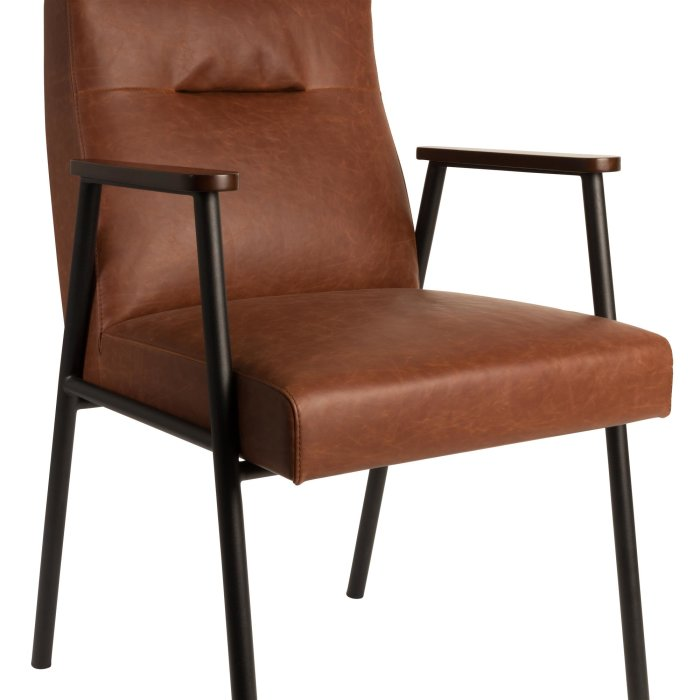 Dutchbone ARMCHAIR FEZ VINTAGE BROWN