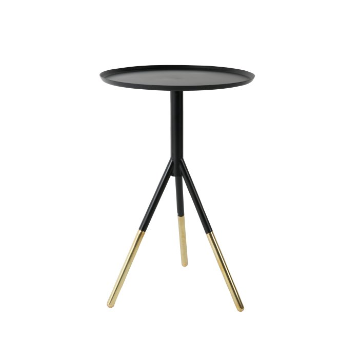 Dutchbone SIDE TABLE ELIA BLACK/BRASS